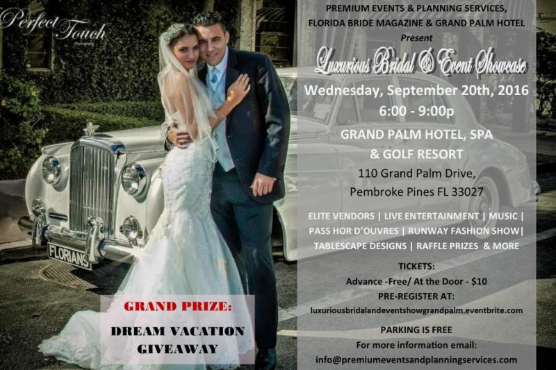Grand Palm Bridal Show Flyer