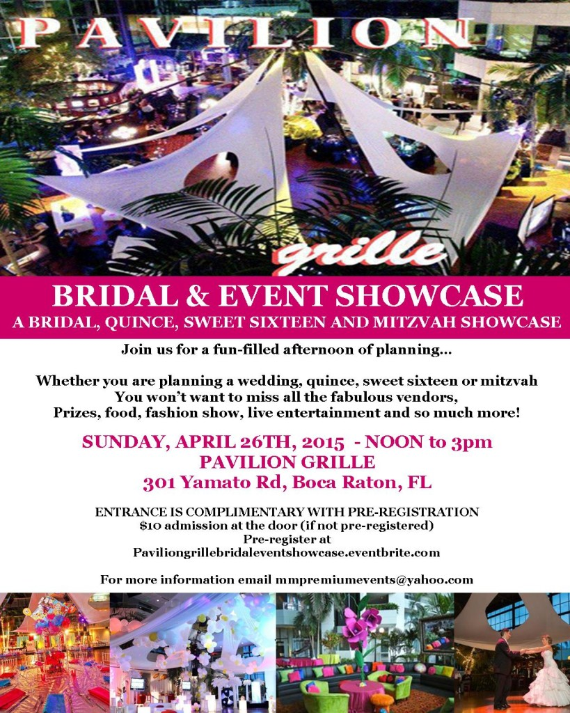 pavilion grille bridal and event showcase flyer