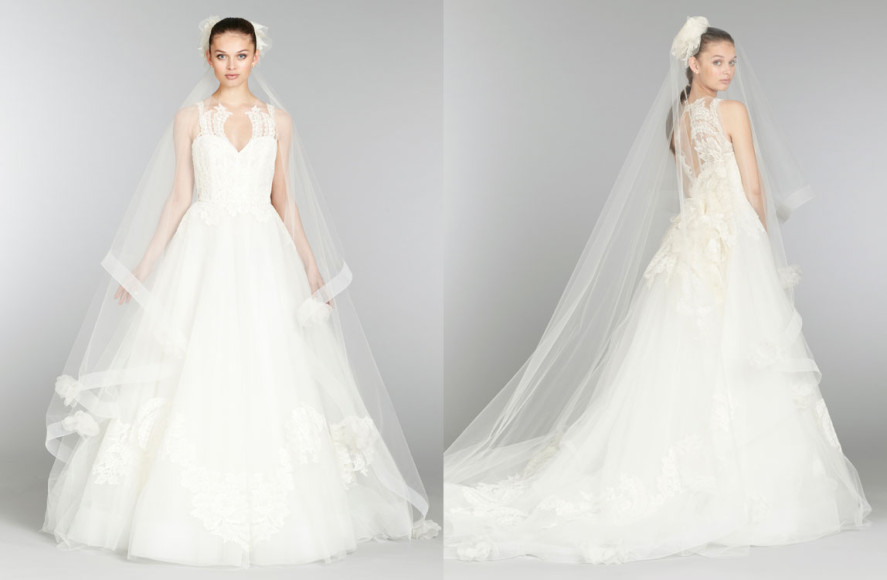 023bd0941613 ... lazaro bridal tulle ball gown cameo sweetheart neck ...