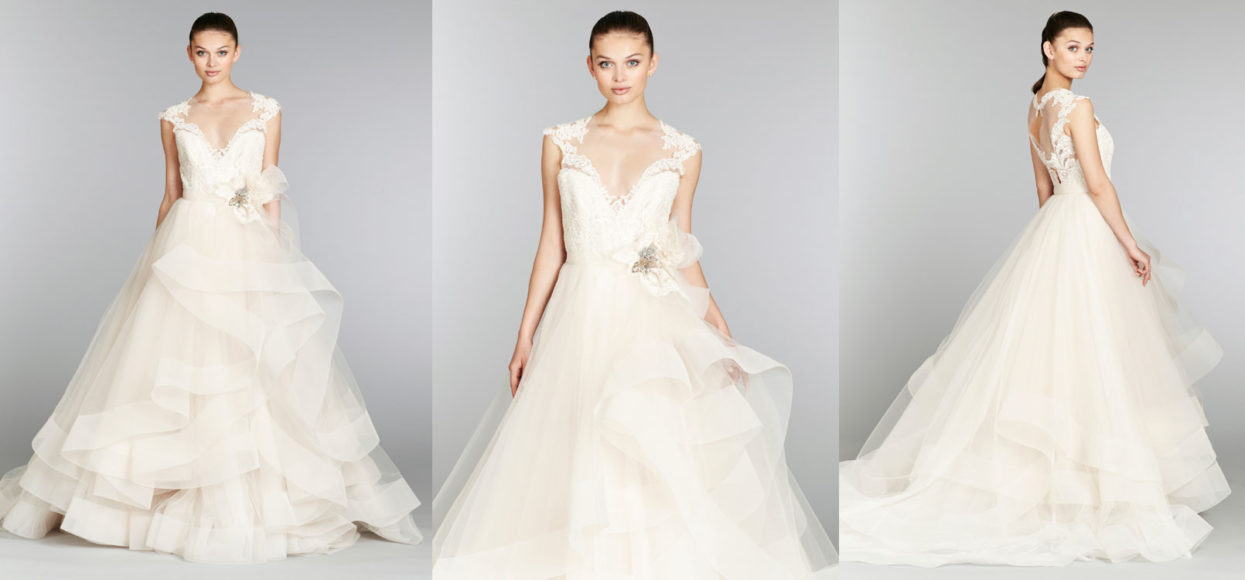 Lazaro Bridal & Wedding Dress Collection Fall 2018 | Brides