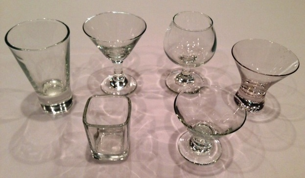 Small Bite Glassware from Liberty Party Rental