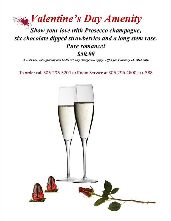 valentine's day champagne at pier house