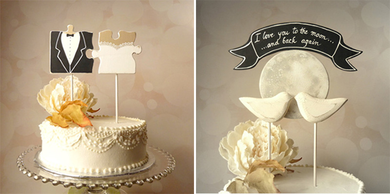 sweet unique cake toppers enchanted brides