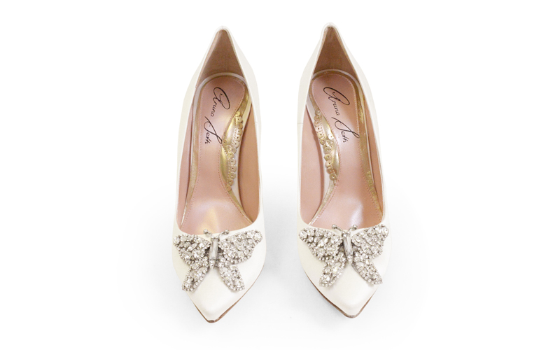 Aruna Seth Candy Cane Bridal Shoe Enchanted Brides