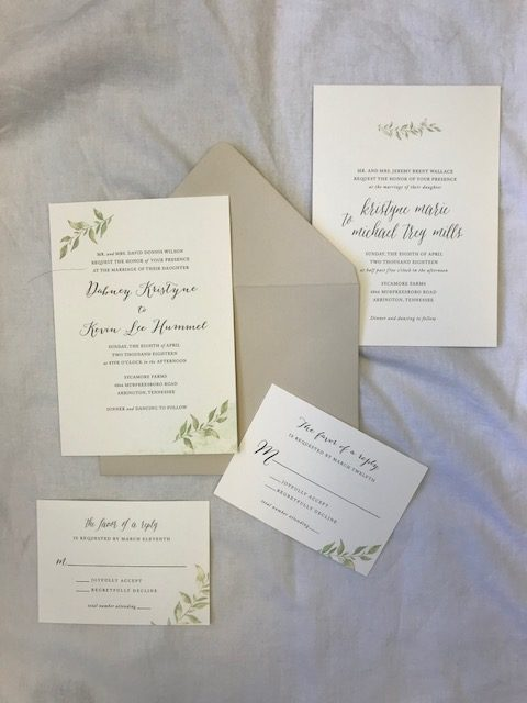 Fresh modern wedding invitation designs for 2018 enchanted brides greenery has been a leading design element for nashville weddings from floral arrangements to wedding invitations there are several gorgeous ways to stopboris Gallery